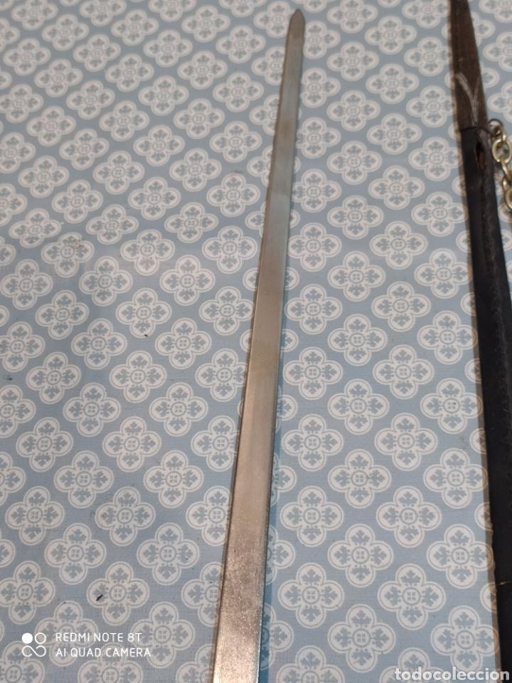 Militaria: Preciosa daga antigua con mango de metal y todo tipo de detalles con funda original - Foto 13 - 221501867