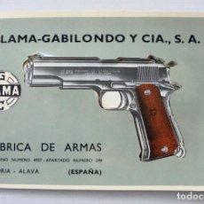 Militaria: CATÁLOGO - MANUAL - INSTRUCCIONES DE ARMAS LLAMA GABILONDO Y CÍA. Lote 246751800