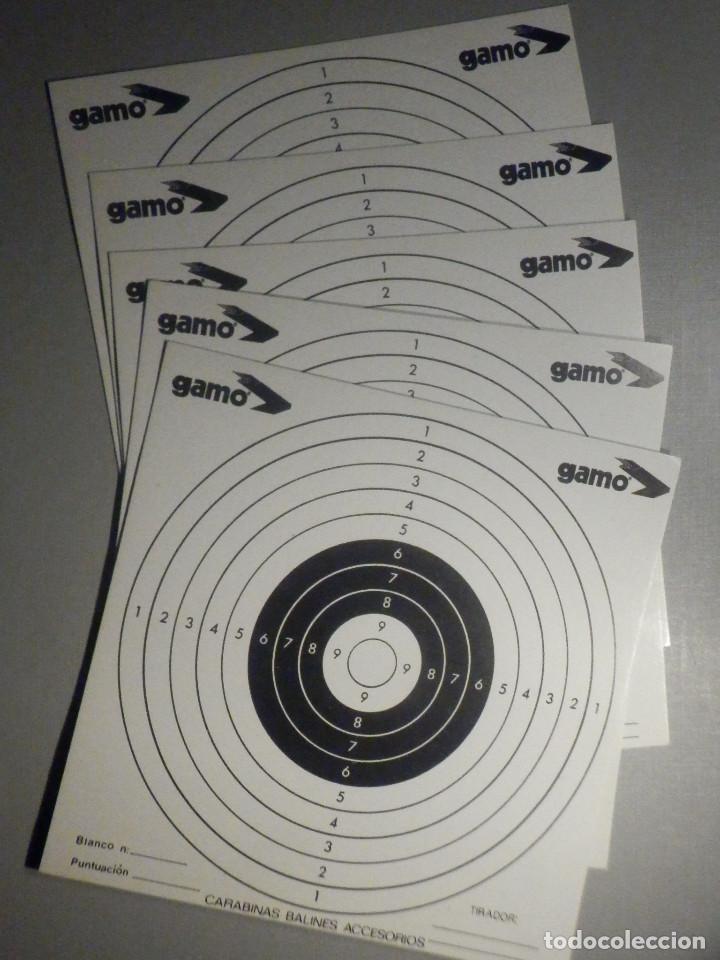 5 DIANAS DE CARTÓN - GAMO - P/ ESCOPETILLAS DE BALINES ( CARBINAS DE PLOMO AIRE COMPRIMIDO (Militar - Otros Artículos Relacionados con Armas)