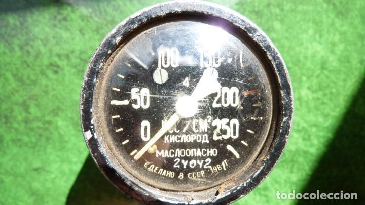 MANÓMETRO DE OXIGENO APARATO DE RESPIRACIÓN MILITAR RUSIA 1981 GUERRA FRÍA (Militar - Otros Artículos Relacionados con Armas)