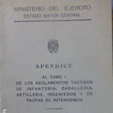 Militaria: MANEJO DE ARMA SUBFUSIL APÉNDICE REGLAMENTOS TÁCTICOS EJÉRCITO ESPAÑOL 1963. Lote 263902320