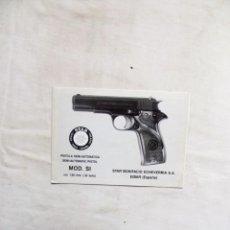 Militaria: MANUAL DE PISTOLA SEMI AUTOMATICA STAR MODELO SI CAL. 7,65 MM. Lote 268751939