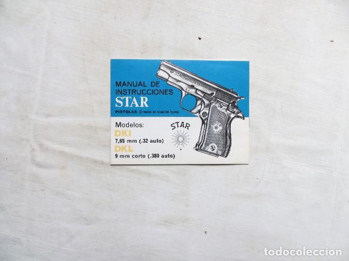 MANUAL DE PISTOLA STAR MODELO DKL 9 MM CORTO (Militar - Otros Artículos Relacionados con Armas)