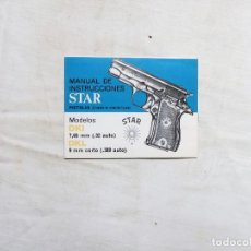 Militaria: MANUAL DE PISTOLA STAR MODELO DKL 9 MM CORTO. Lote 268761604