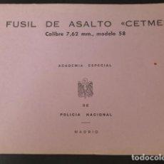 Militaria: FUSIL DE ASALTO CETME CALIBRE 7,62 MM. MODELO 58 ACADEMIA POLICIA ARMADA. Lote 275194208