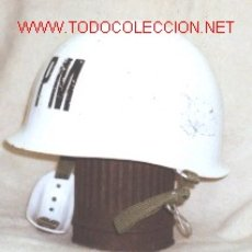 Militaria: CASCO ESPAÑOL POLICIA MILITAR.. Lote 27348200