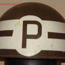Militaria: CASCO MODELO 1948-60, POLICÍA 'P'. Lote 24844403