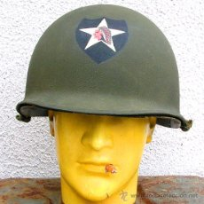 Militaria: CASCO M1 2ª DIVISIÓN INDIAN HEAD. Lote 26718492