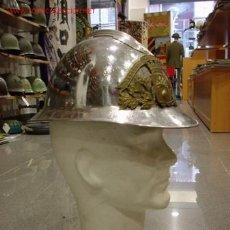 Militaria: FRANCIA CASCO ADRIAN DE BOMBEROS. PLATA. CON PLACA SAPEURS POMPIERS HOHWILLER. Lote 15515961