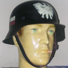 Militaria: CASCO ALEMÁN M42 RESISTENCIA POLACA. Lote 44794583
