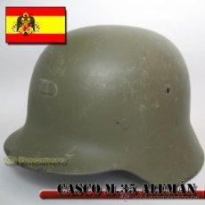 Militaria: CASCO ALEMÁN M.35 USADO EN GUERRA CIVIL ESPAÑOLA. Lote 27355776