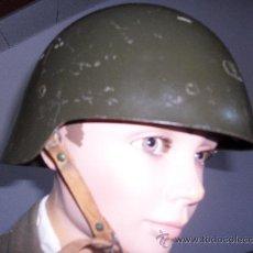 Militaria: CASCO TRUBIA MODELO M-21. ORIGINAL REUTILIZADO EN LA POSTGUERRA. Lote 218754807