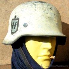 Militaria: CASCO ALEMÁN M40 WAFFEN SS 2C CAMO INVIERNO. Lote 207141886
