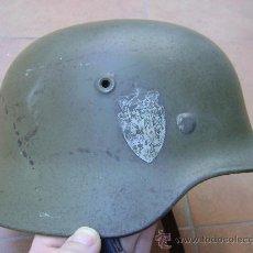 Militaria: CASCO ALEMAN MOD 40 , NORUEGO CON CALCAS . Lote 27202216