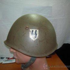Militaria: II GUERRA MUNDIAL. CASCO ITALIANO WAFFEN SS. DOS CALCOMANÍAS.. Lote 27102052