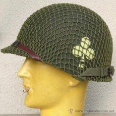 Militaria: CASCO M1 101ª DIV. 327TH REG. CON RED CAMUFLAJE. Lote 173214660