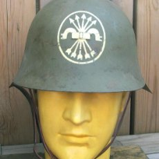 Militaria: CASCO ESPAÑOL M34 EIBAR FALANGISTA. Lote 31609100