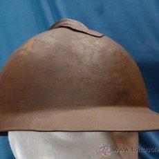 Militaria: CASCO MODELO 1915 LIPPMANN ITALIANO. SIN AGUJEROS EN LA PARTE FRONTAL. UTILIZADO EN LA GUERRA CIVIL.. Lote 31698042