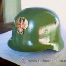 Militaria: EJERCITO ESPAÑOL, PRECIOSO CASCO Z RESTAURADO, CON INSIGNIA FRONTAL.SIMILAR III REICH,M35-M42. Lote 34209809