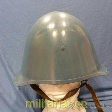 Militaria: DINAMARCA. CASCO 1923. CON PINTURA AZUL DELA MARINA DANESA.. Lote 35774416