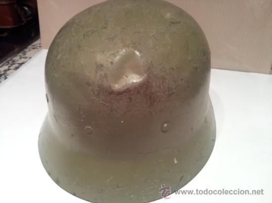 Militaria: antiguo casco militar con interior - Foto 4 - 35779635