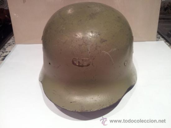 Militaria: antiguo casco militar con interior - Foto 2 - 35779635