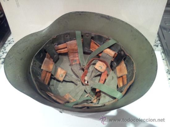 Militaria: antiguo casco militar con interior - Foto 6 - 35779635