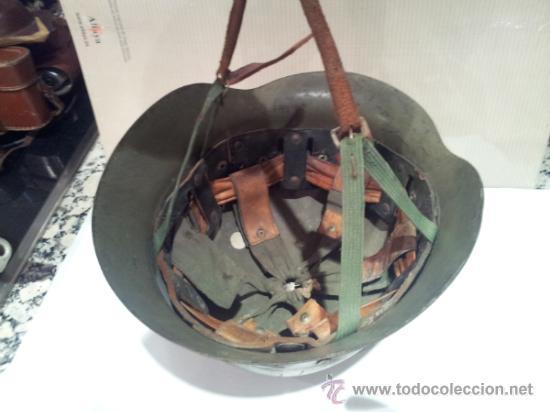 Militaria: antiguo casco militar con interior - Foto 7 - 35779635