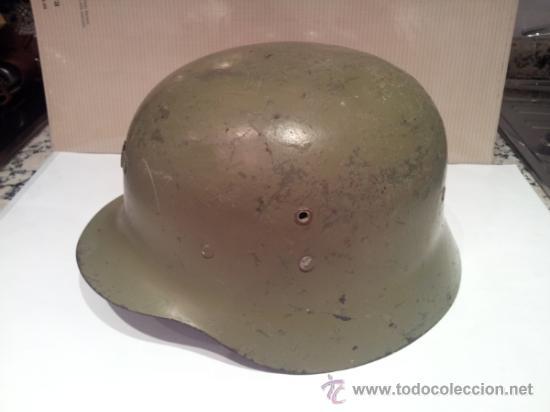 ANTIGUO CASCO MILITAR CON INTERIOR (Militar - Cascos Militares )