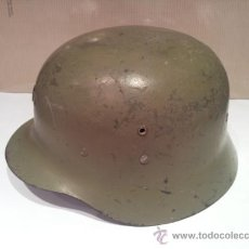 Militaria: ANTIGUO CASCO MILITAR CON INTERIOR. Lote 35779635