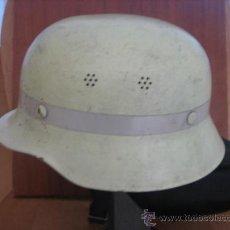 Militaria: CASCO ALEMAN DE BOMBERO M-34 LUMINISCENTE CON NUQUERA DE CUERO.. Lote 36622531