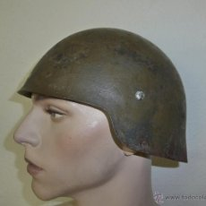 Militaria: CASCO M-21 SIN ALAS, ORIGINAL TODO, CON SU PINTURA DE GUERRA CIVIL. RARISIMO. . Lote 39854699