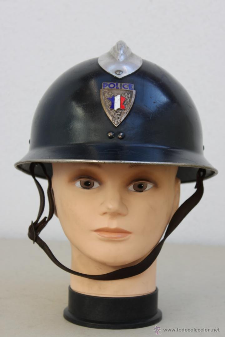 FRANCIA CASCO POLICIA POLICE FRANCESA - METALICO (Militar - Cascos Militares )