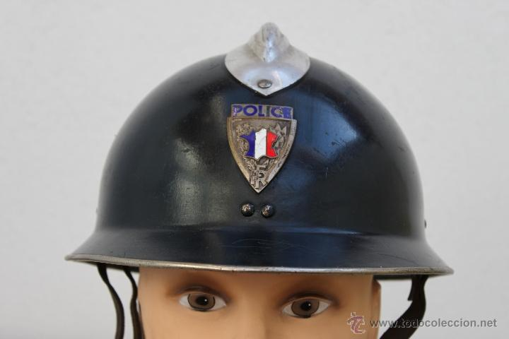 Militaria: FRANCIA CASCO POLICIA POLICE FRANCESA - METALICO - Foto 2 - 40681994