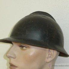 Militaria: ANTIGUO CASCO ADRIAN ITALIANO, CON SU INTERIOR, PINTURA ORIGINAL, GUERRA CIVIL. PRECIOSO.. Lote 41436045
