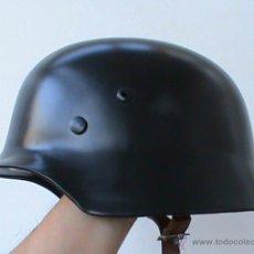 Militaria: CASCO DE ACERO ALEMAN , EN NEGRO . PERFECTO : VER DESCRIPCION. Lote 43269396