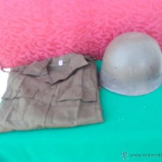 Militaria: CASCO MILITAR DE PLASTICO Y CAMISA. Lote 43895598