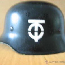 Militaria: CASCO ALEMAN M- 34 ORGANIZACION TODT III REICH.. Lote 44906534