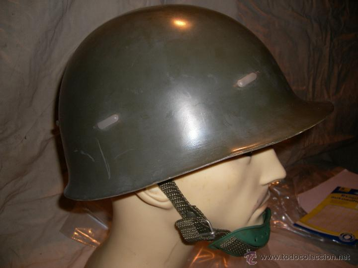 POLICIA ARMADA CASCO ANTIDISTURBIOS PLASTICO (Militar - Cascos Militares )