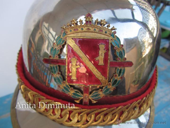 Militaria: ANTIGUO Y FANTASTICO CASCO DE LA GUARDIA DE FRANCO - ESCUADRON DE CABALLERIA - EN MUY BUEN ESTA - Foto 12 - 46222135