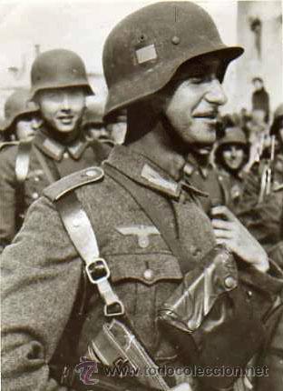 Militaria: Casco Alemán M40 División Azul, restaurado. - Foto 6 - 191169501