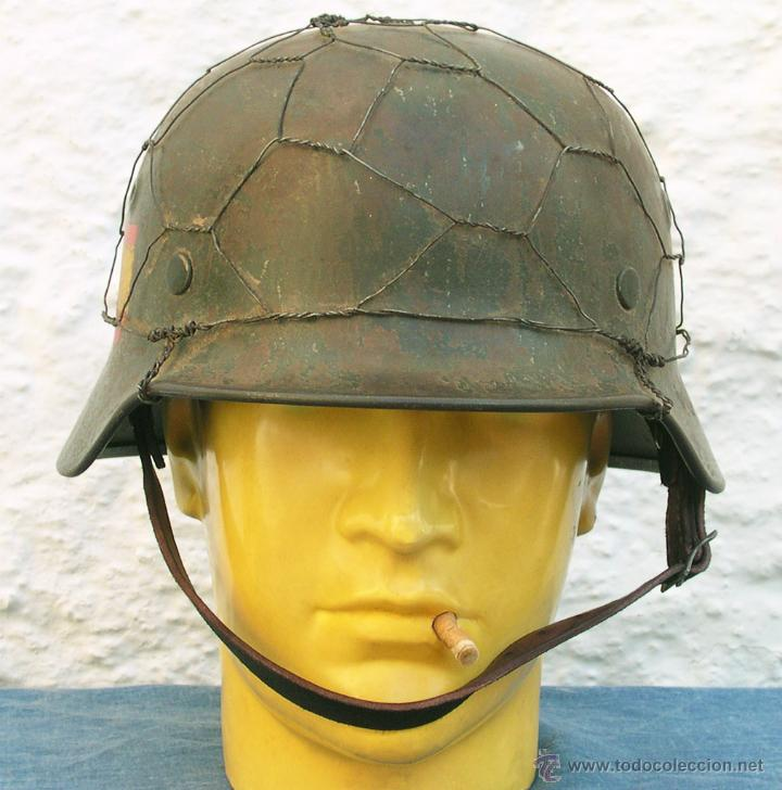 Militaria: Casco Alemán M40 División Azul, restaurado. - Foto 8 - 191169501