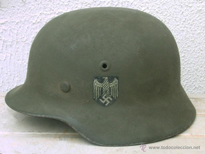 Militaria: Casco Alemán M40 División Azul, restaurado. - Foto 10 - 191169501