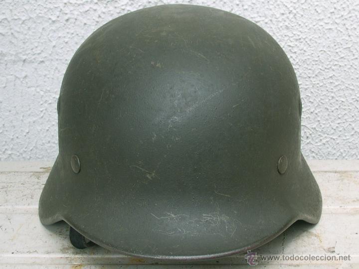 Militaria: Casco Alemán M40 División Azul, restaurado. - Foto 12 - 191169501