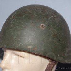 Militaria: CASCO BÚLGARO PRIMER MODELO 51- ACERO PEOR CALIDAD Y MENOR PESO. INTERIOR MOD. 1936A-. Lote 47211555