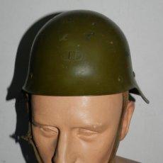 Militaria: CASCO DE ACERO M 26 CON ALA, TRUBIA, BUEN ESTADO DEL CORREAJE INTERIOR Y DE LA PINTURA, PERO CON ALG. Lote 52285701