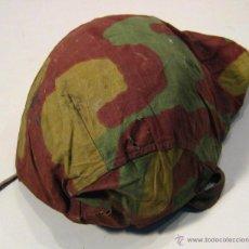 Militaria: CASCO ITALIANO M-1.933 CON RARA FUNDA CAMUFLAJE IIGM. Lote 53216100