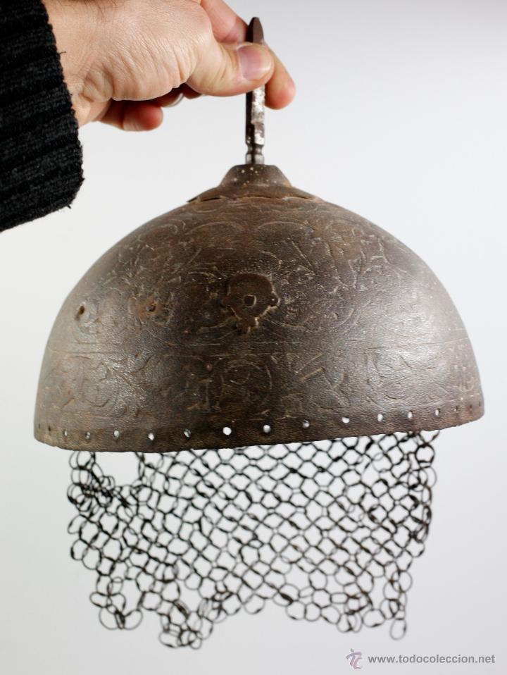 Militaria: curioso casco de Hierro, 20,6 cm de diámetro de base. Ver fotos anexas - Foto 5 - 53419891