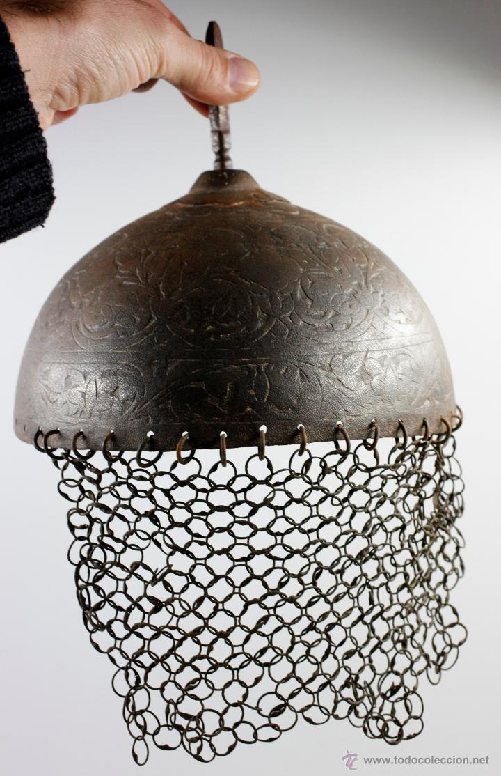 Militaria: curioso casco de Hierro, 20,6 cm de diámetro de base. Ver fotos anexas - Foto 6 - 53419891