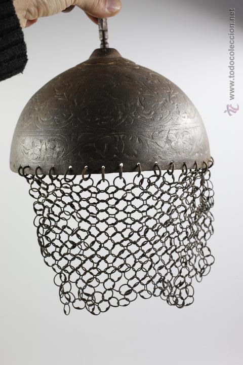 Militaria: curioso casco de Hierro, 20,6 cm de diámetro de base. Ver fotos anexas - Foto 7 - 53419891